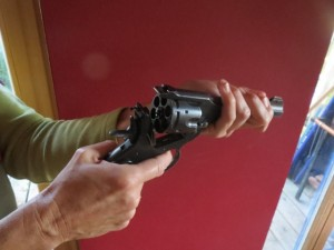 Waffe oder Revolver oder Pistole der Krimiautorin Michaela Seul, flipper-privat.de