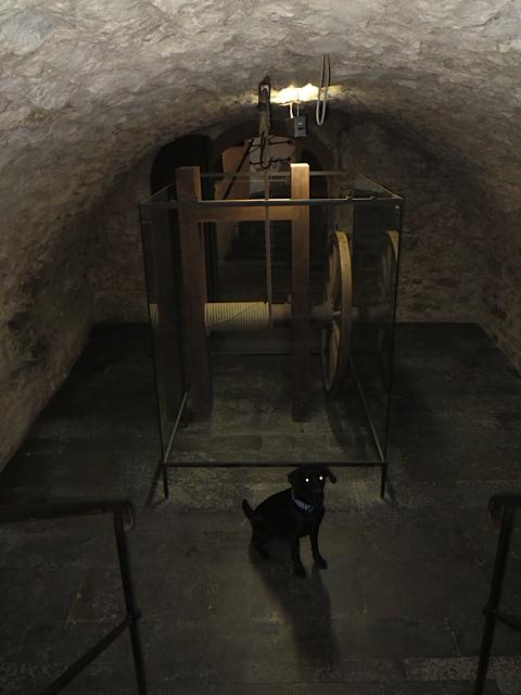 Miss Lomax Foltermuseum bei der Recherche vom 4. Band der Kriminalromanserie um Flipper, Franza und Felix, die Michaela Seul mit ihrer schwarzen Muse schreibt und wovon sie unter www.flipper-privat.de berichtet